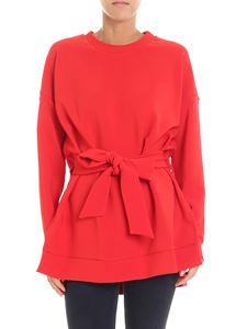 Parosh - Red overfit blouse with bow