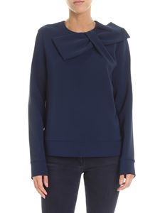 Parosh - Blue blouse with bow