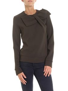 Parosh - Dark green blouse with bow