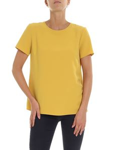 Parosh - Ocher yellow blouse with vent