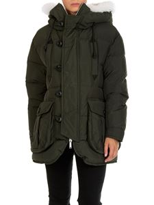Dsquared2 - Army green hooded down jacket