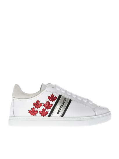 Dsquared2 - Lace-up white leather sneakers