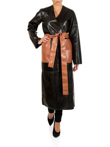 Loewe - Abrigo black and brown coat