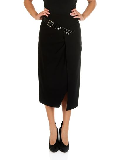 Givenchy - Black wool crepe longuette
