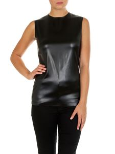 Givenchy - Black eco-leather top