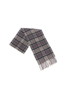 Barbour - Grey tartan checked scarf