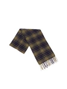Barbour - Green and brown tartan scarf