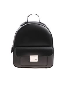 Emporio Armani - Black backpack with logo detail