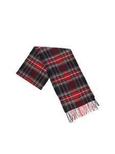 Barbour - Green black and red tartan scarf