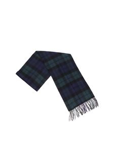 Barbour - Blue and green tartan scarf