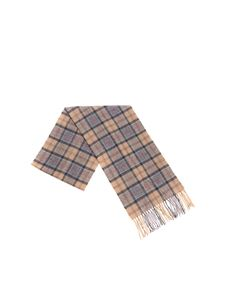 Barbour - Beige and grey tartan scarf