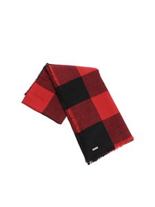 Woolrich - Red and black check scarf