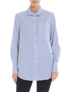 Tommy Hilfiger - White and light blue striped shirt