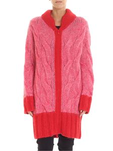 McQ Alexander Mcqueen - Pink and red long cardigan