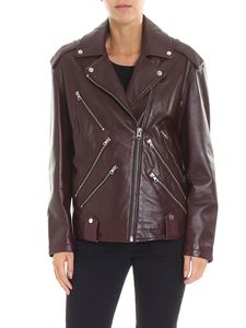 McQ Alexander Mcqueen - Burgundy leather jacket