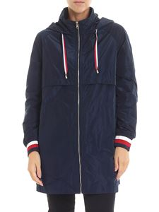 Tommy Hilfiger - Cory blue hooded jacket