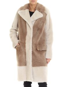 Desa 1972 - Beige and cream-colored shearling coat