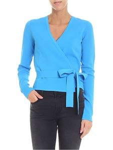 Diane von Fürstenberg - Light blue V-neck cache-coeur