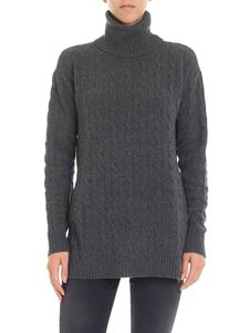 POLO Ralph Lauren - Anthracite color flared turtleneck