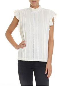 POLO Ralph Lauren - Cream-colored top with lace inserts
