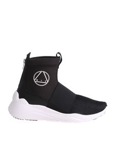 McQ Alexander Mcqueen - Black Hikaru sneakers with white logo print