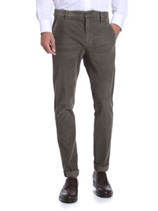 Dondup - Dove grey color corduroy trousers