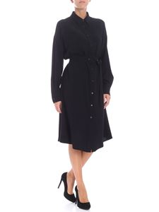Aspesi - Overfit black shirt-dress