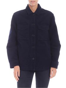 Aspesi - Blue jacket with shirt collar