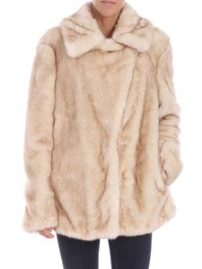Dondup - White and beige eco-fur jacket