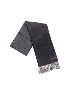Ermenegildo Zegna - Degradé black scarf with logo