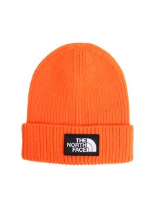 The North Face - Orange beanie with logo
