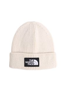 The North Face - Cream-colored beanie with logo