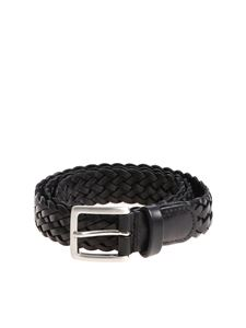 Anderson's - Black braided leather belt