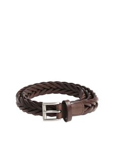 Anderson's - Brown woven leather belt