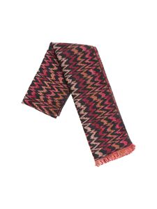 Missoni - Multicolor patterned black scarf