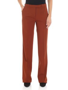 Etro - Brown trousers with multicolor stripes