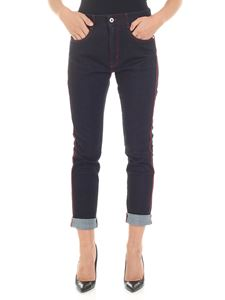 Stella McCartney - Blue jeans with red edges
