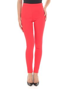 Patrizia Pepe - Red cotton blend trousers