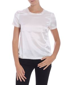 Patrizia Pepe - Ivory color satin T-shirt