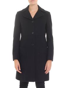 Dondup - Black single-breasted lined coat