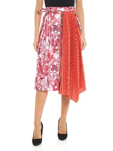 Dondup - Pink skirt with printed wallet