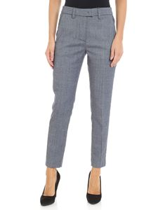 Dondup - Blue slim tweed trousers
