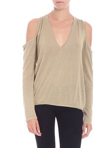 Patrizia Pepe - Golden lurex top with cut out