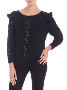 Patrizia Pepe - Black pullover with golden inserts