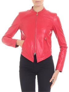 Patrizia Pepe - Red eco-leather jacket