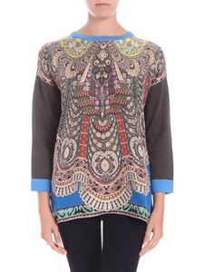Etro - Roundneck sweater with multicolor print