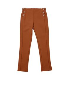 Chloé - Brown cotton and modal trousers