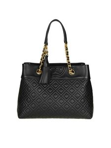 "Tory Burch - Borsa ""Fleming small tote"" nera"