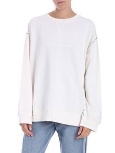 MM6 by Maison Martin Margiela - White sweatshirt with dropped shoulder