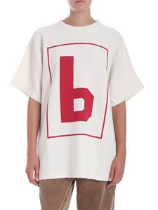 MM6 by Maison Martin Margiela - Cream-color printed t-shirt
